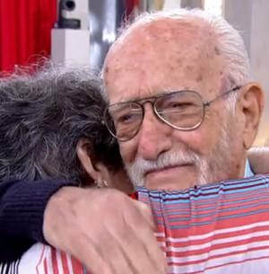 Após 60 anos separados, ex-noivos se reencontram (Encontro com Fátima Bernardes/TV Globo)