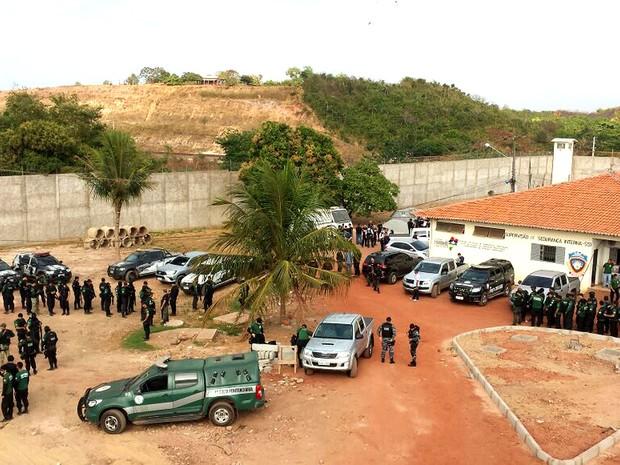 Mais de 700 homens participam de ação de resposta a ataques (Foto: Divulgação/Secap)