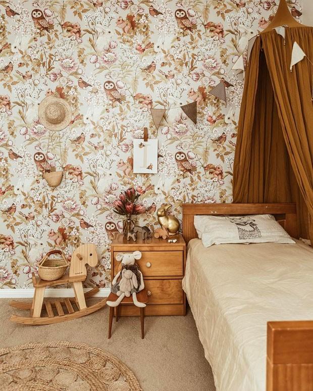 Décor do dia: quarto infantil com clima vintage e tons terrosos (Foto: reprodução)