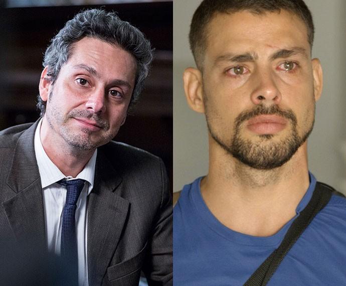 Alexandre Nero e Cauã Reymond dividiram as atenções no primeiro capítulo (Foto: Tv Globo)