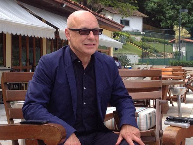 Brian Eno participa de coletiva de imprensa no Rio nesta quarta-feira (17) (Foto: Henrique Porto/G1)