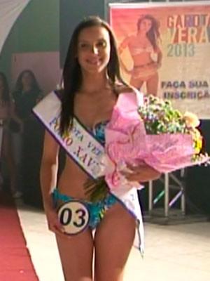 Garota Verão - representante de Porto Xavier (Foto: Reprodução/RBS TV)