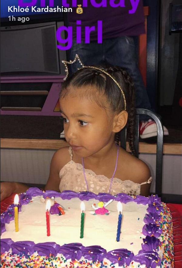 A filha de Kim Kardashian e Kanye West (Foto: Instagram)