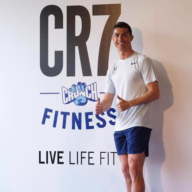 Cristiano Ronaldo lança rede de academia de ginástica em Madrid (Foto: reprodução/Facebook)