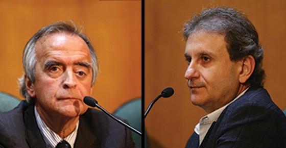 Nestor Cerveró  e Alberto Youssef  (Foto: Geraldo Bubniak / AGB / Ag. O Globo e Geraldo Bubniak/AGB/Folhapress)