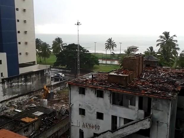 Demolição do Edifício Caiçara 2016 (Foto: Divulgação)