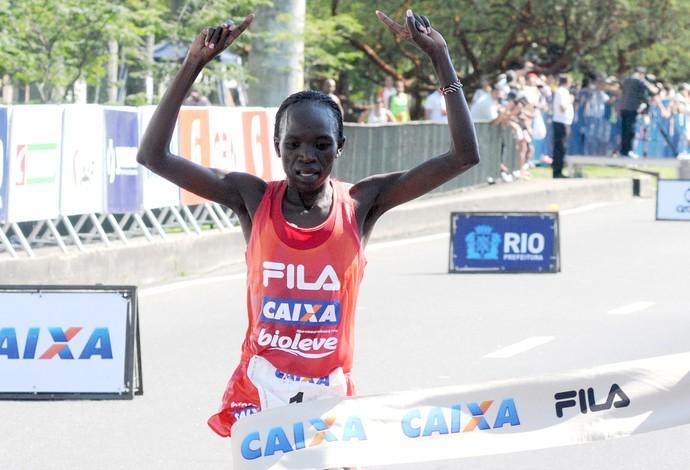 nancy kipron vencedora Meia Maratona Rio de Janeiro (Foto: André Durão / Globoesporte.com)