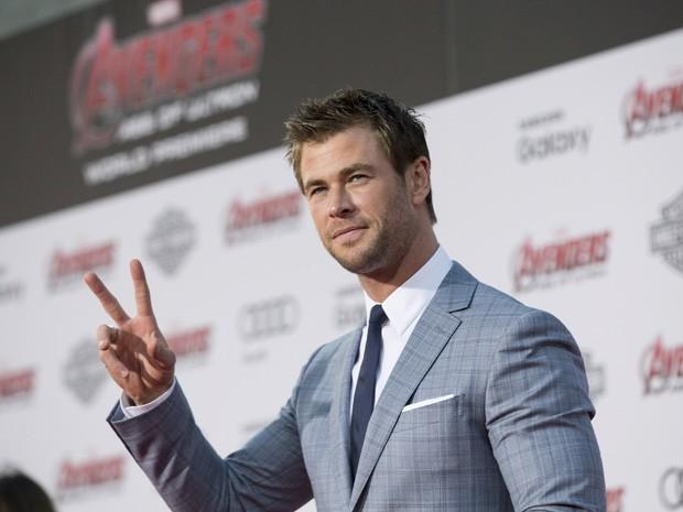 Chris Hemsworth na pré-estreia de 'Vingadores: Era de Ultron' no Teatro Dolby, em Hollywood, nesta segunda (13) (Foto: REUTERS/Mario Anzuoni)