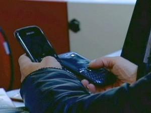 Telefonia celular/GNews (Foto: Reprodução Globo News)