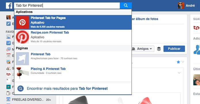 Busca do Facebook (Foto: Reprodução/André Sugai)