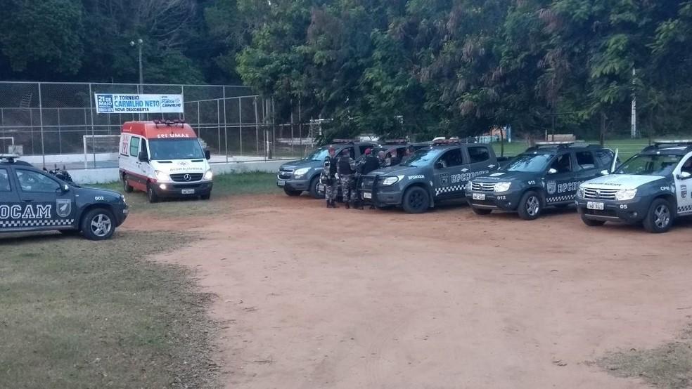 Opreação da PM em Nova Descoberta terminou com um morto e um preso (Foto: Kléber Teixeira/Inter TV Cabugi)