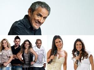 Zé Ramalho, banda Magníficos e Simone e Simaria se apresentam na Paraíba (Foto: Montagem/G1)