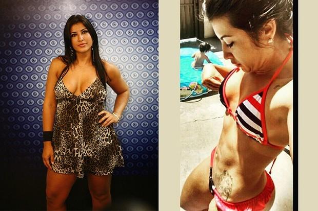Priscila Pires perdeu peso e conquistou corpo perfeito (Foto: TV Globo/Divulgação/Reprodução)