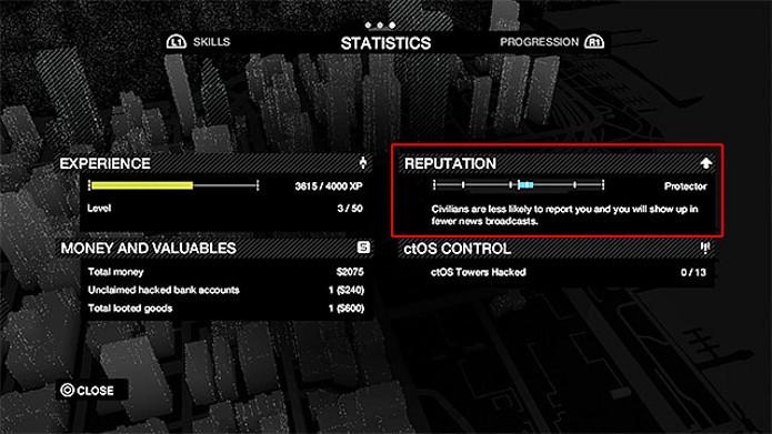 Veja sua barra de reputação na parte de estatísticas do seu smartphone (Foto: Reprodução)