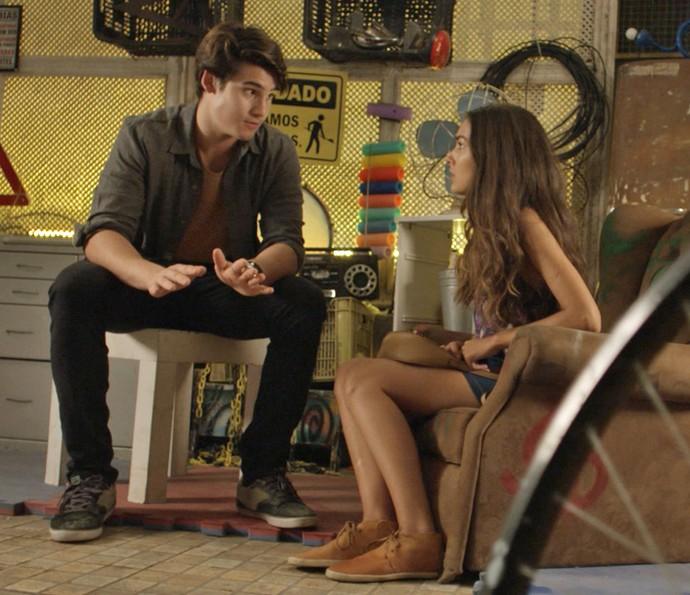 Rodrigo e Luciana dizem umas verdades (Foto: TV Globo)
