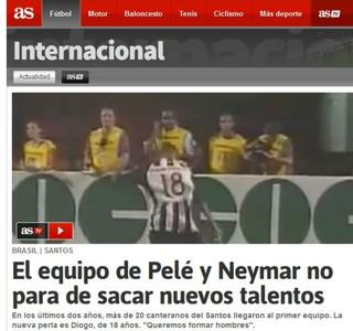 Trabalho do Santos nas categorias de base é destaque em jornal espanhol (Foto: reprodução)