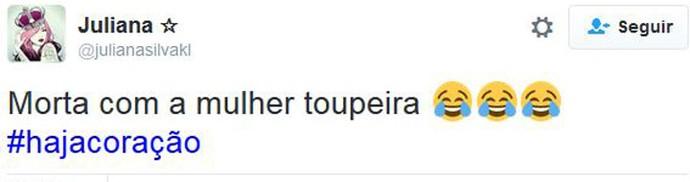 mulher toupeira (Foto: Twitter)