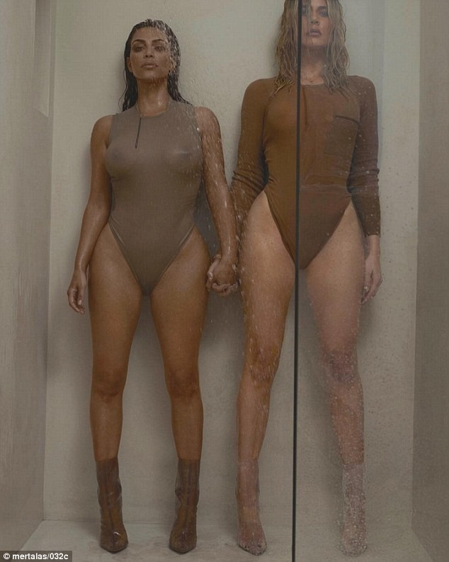 Sexy! Kim e Khloe Kardashian estrelam juntas ensaio hot