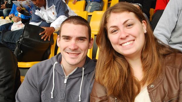 Arthur Zanetti e a namorada Juliana Gatto estão sempre juntos (Foto: Marcos Guerra)