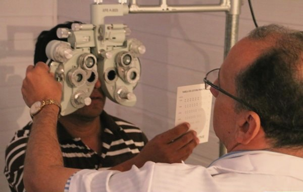 A consulta oftalmológica foi o serviço médico mais procurado durante a Ação Global (Foto: Reprodução/ Sistema Fiemt)