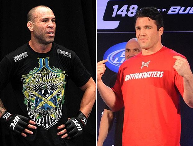 montagem UFC Chael Sonnen e o Wanderlei Silva (Foto: Editoria de Arte / Globoesporte.com)
