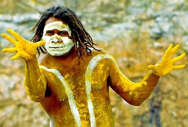 """Aborígene do grupo Descendance, atração na abertura da mostra """"Armadilhas indígenas"""" (Foto: Divulgação)"""