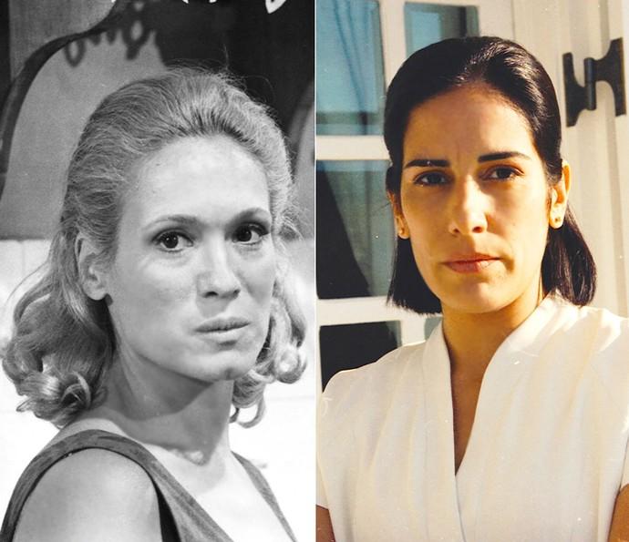 Susana Vieira e Glória Pires viveram a babá Nice em Anjo Mau (Foto: Cedoc / TV Globo)