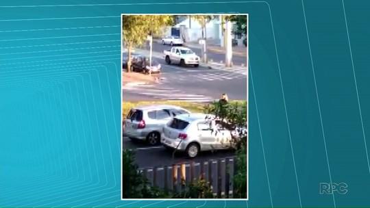 Briga de trânsito termina em atropelamento em Londrina; VÍDEO