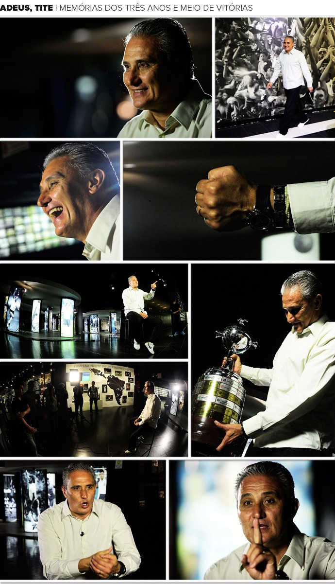 Mosaico Adeus Tite  (Foto: Marcos Ribolli)