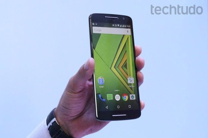 Moto X Play tem opção de expansão de até 128 GB (Foto: Nicolly Vimercate/TechTudo)