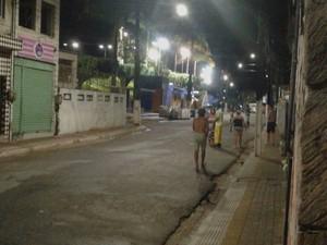 Medo dos moradores de Sirinhaém (Foto: Sabrina Siqueira/ reprodução de WhatsApp)
