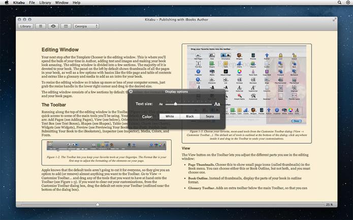 Kitabu é um leitor de livros digitais exclusivo para Mac (Foto: Divulgação/Kitabu)
