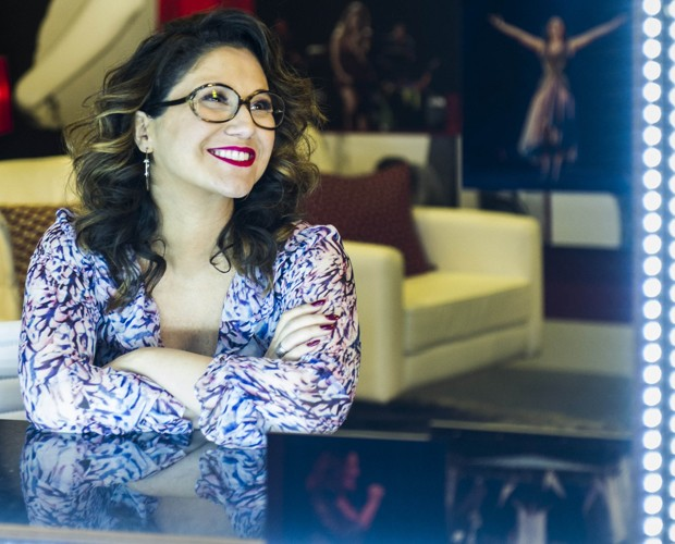 Maria Rita no camarim personalizado  (Foto: Cynthia Salles)