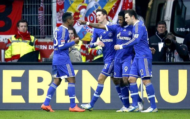 michel bastos schalke 04 gol Mainz 05 (Foto: Agência Reuters)