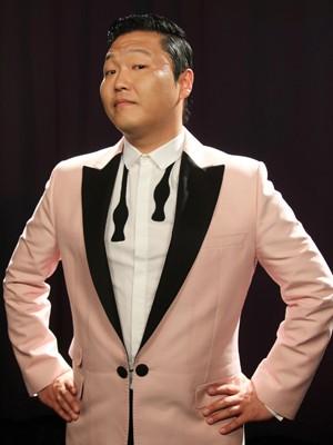 O músico coreano Psy (Foto: AP/John Carucci)