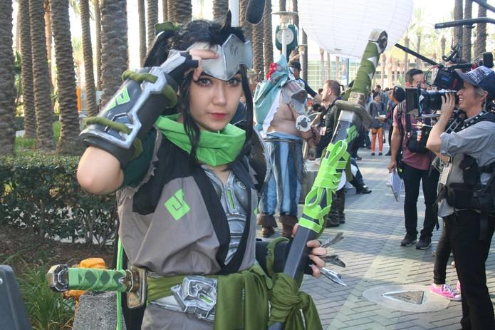 Cosplay de Genji, de Overwatch, na BlizzCon (Foto: Felipe Vinha)