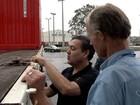 Caminhões são flagrados com falha de segurança em porto no ES