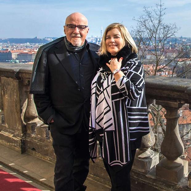 Christina Oiticica e Paulo Coelho (Foto: .)