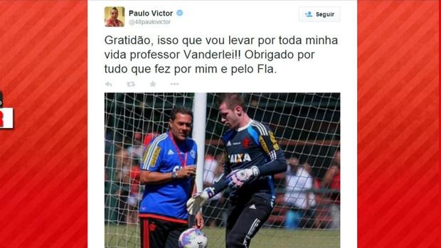 Twitter Paulo Victor agradece Luxemburgo
