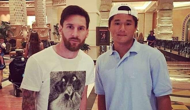 Messi tira férias na Bahamas (Foto: Reprodução / Twitter)