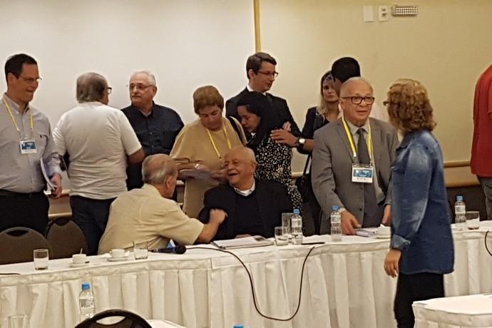Coaracy Nunes na assembleia da CBDA (Foto: Leonardo Filipo)