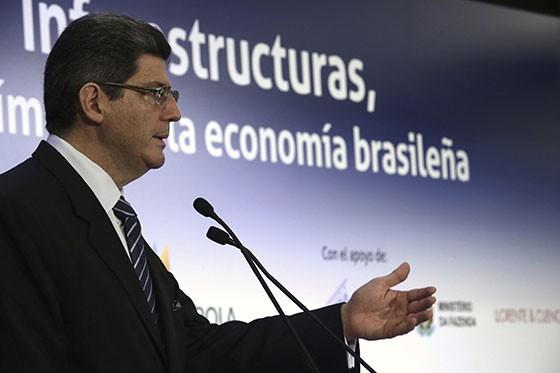 O ministro Joaquim Levy em Madri, dia 7 de setembro (Foto: EFE)