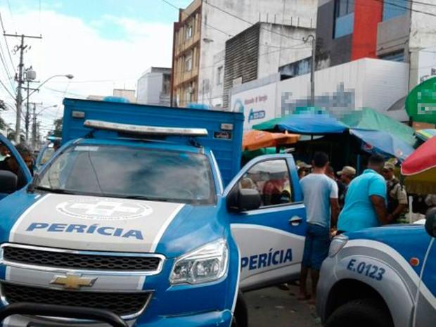 Vítima não resistiu aos ferimentos e morreu no local (Foto: Aldo Matos/  Acorda Cidade)