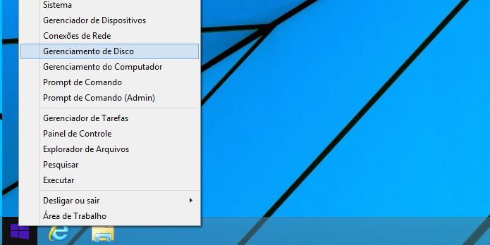 Acessando o Gerenciador de Disco do Windows (Foto: Reprodução/Edivaldo Brito)