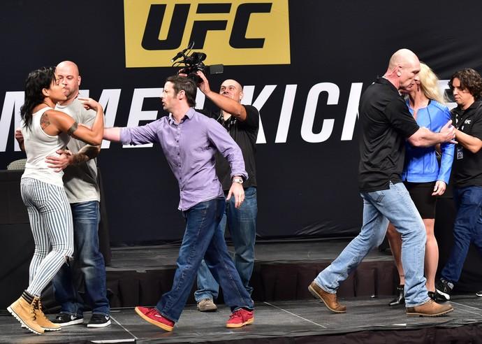 Amanda Nunes, Valentina Shevchenko, coletiva de imprensa UFC (Foto: Jason Silva)