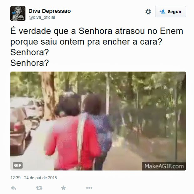 Memes sobre o Enem povoaram as redes sociais neste sábado (Foto: Reprodução/Twitter)