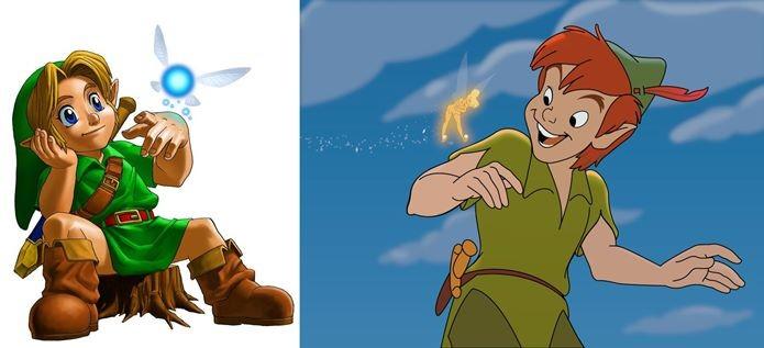 Há diversas semelhanças entre Peter Pan e Link (Foto: Reprodução / DeviantArt / Nintendo)