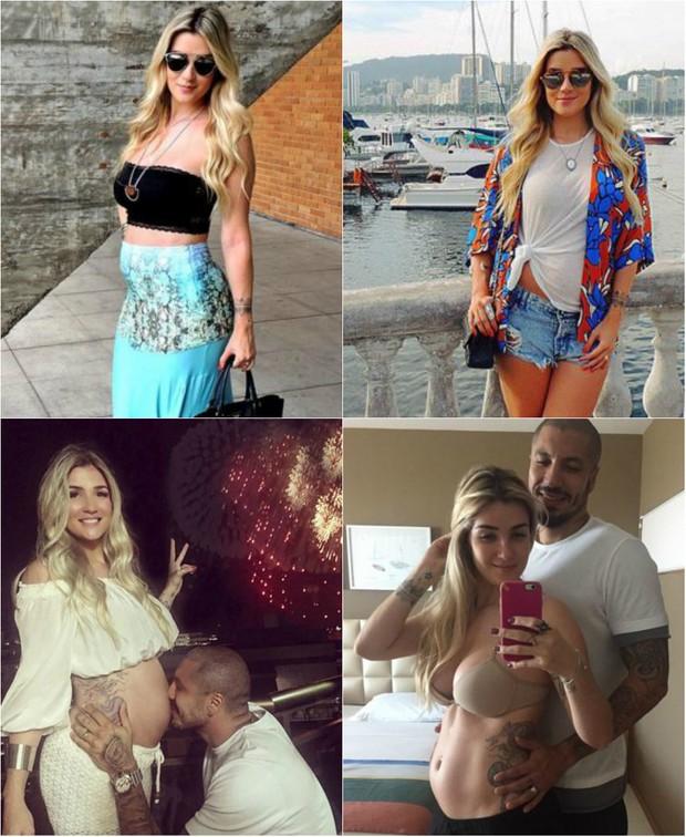 Aline Gotschalg fala de sua gravidez: Sempre sonhei em ser aquela grávida de barrigão. Queria estar com uma barriga gigante, mas isso ainda não aconteceu. Tenho esperança de que ela cresça agora na reta final (Foto: Reprodução do Instagram)