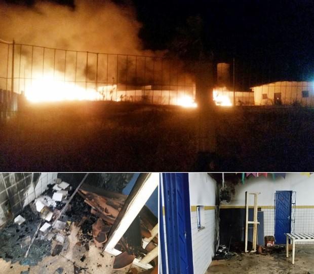 Na zona rural de Touros, uma escola foi atacada  (Foto: Touros1501.com)
