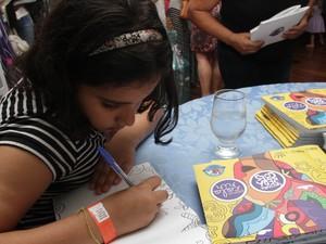 Evento teve concurso de redação Minha Família na Escola (Foto: Valéria Abras)